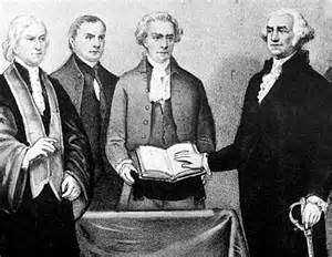 Image result for 1789 - George Washington took office as first elected U.S. president.