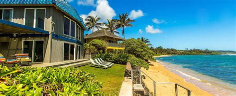 kauai cottage rentals vacation rentals on kauai hawaii oceanfront rentals on