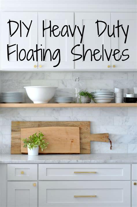 diy heavy duty bracket  floating kitchen shelves