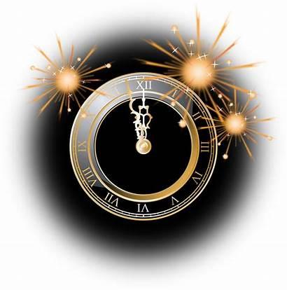 Clock Uhr Clipart Silvester Happy Clip Eve