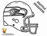 Coloring Football Pages Boys Sports Sheets Seahawks Printable sketch template