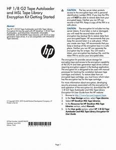 Hp Msl6480 Getting Started Guide
