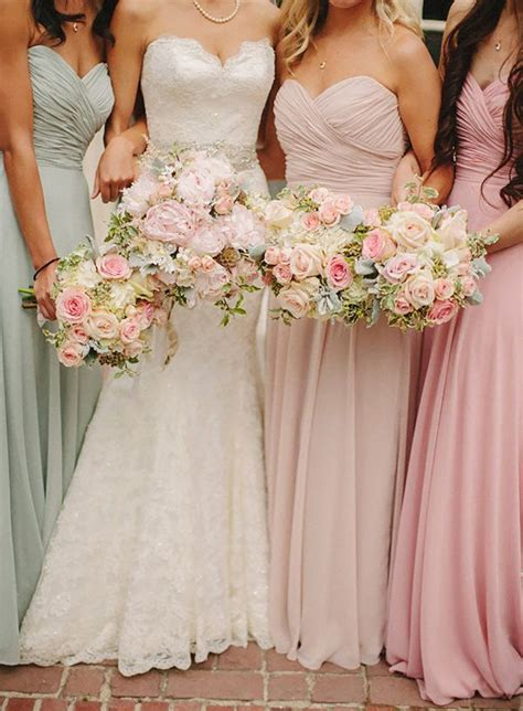 pastel wedding colors pastel pink wedding flowers chwv