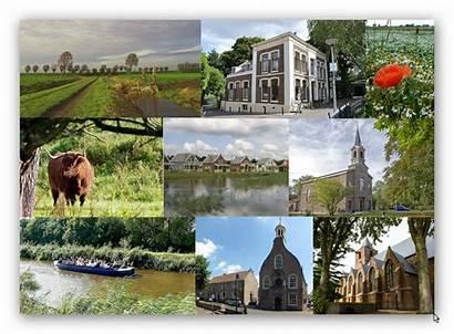 Nissewaard Gemeente Zowel Fotocollage Landelijk Doorgestuurd Gebied