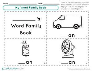 word family worksheets  family worksheet