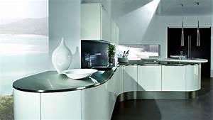Küche In L Form : gerundete l form k che in wei mit theke ~ Bigdaddyawards.com Haus und Dekorationen