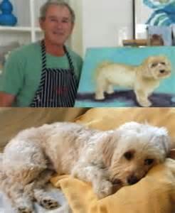 George Bush Dog Paintings