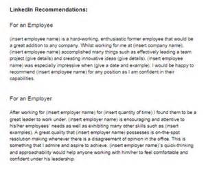 Sample LinkedIn Recommendation Letter Examples