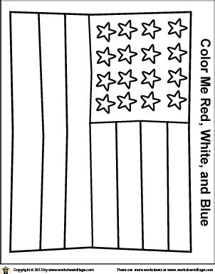 A Simplified American Flag Coloring Page   American flag ...