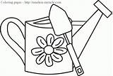 Watering Coloring Pages Spring Clipart Colouring Timeless Miracle sketch template