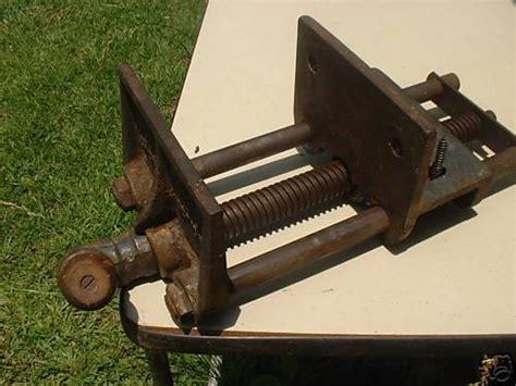 antique vintage morgan vise  woodworking vise vg