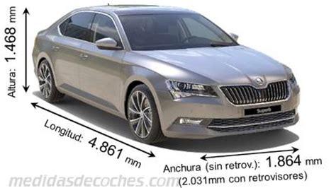 medidas  dimensiones de coches marca skoda