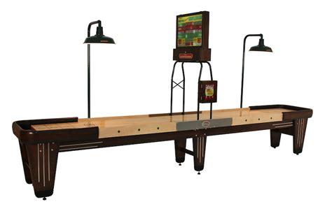 16 foot shuffleboard table rock ola 16 foot shuffleboard in solid walnut maple