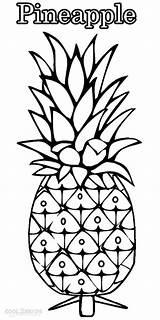 Pineapple Coloring Outline Drawing Printable Fruit Cool2bkids Fruits Getdrawings Drawings Children Colorings sketch template