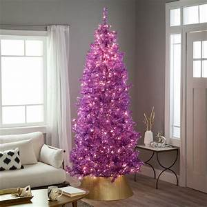 Belham, Living, 7, 5ft, Pre-lit, Metallic, Artificial, Christmas, Tree, With, Clear, Lights
