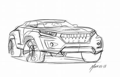 Concept Jeep Draw Cars Drawing Sketches Coloring