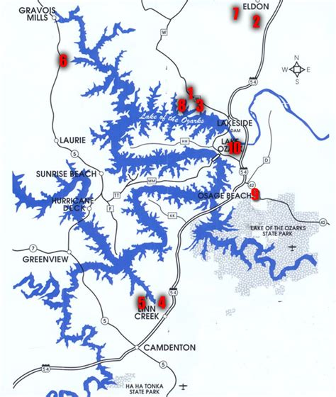 Lake Of The Ozarks Boating Map by Spotted This From The Window Of My Flight Oc Pics