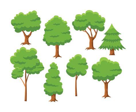 Free Cartoon Tree Vector Vector Art & Graphics