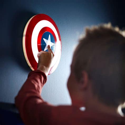 official marvel 3d wall light captain america shield