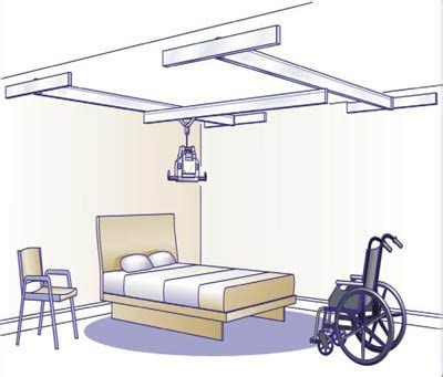 ceiling track lift plans patient transport handicap