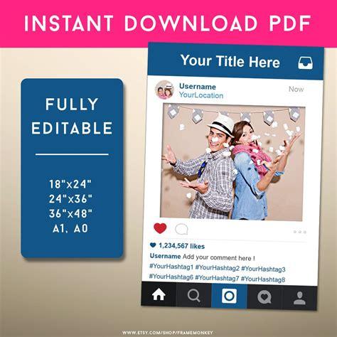 instagram frame prop template pdf instagram style frame photo prop instagram sign social