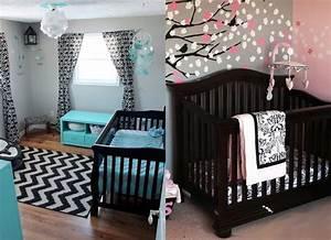 une chambre de bebe design en noir idees cadeaux de With chambre turquoise et noir