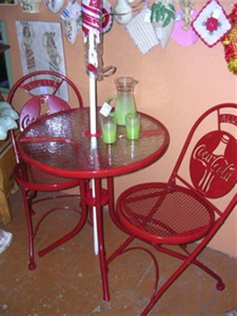 coca cola patio bistro set with umbrella tim s treasures