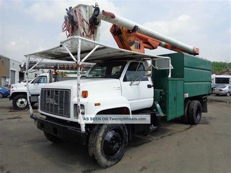 gmc  bucket boom chipper dump truck