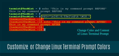 linux terminal colors how to customize bash colors and content in linux terminal