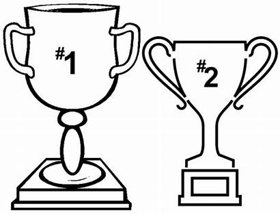 Trophy Coloring Pages Drawing Line 1st 2nd