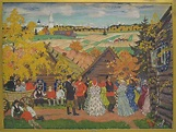 Village Festival Artist:Boris Mikhailovich Kustodiev ...