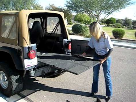 jeep bed extender crewbed jeep gate youtube