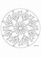 Mandala Spring Coloring Pages Quoteko Credit Larger sketch template