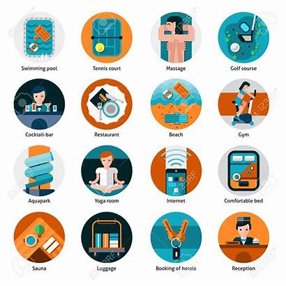 Facilities Clipart Recreation Vector Icons Sports Hotel