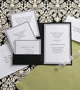 wilton elegance invitation kit black white at joanncom With joann fabrics wedding invitations kits