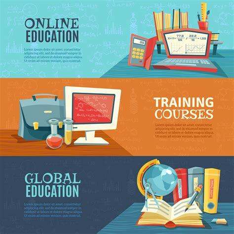 School Education Online Courses Banners Set 477703 - Download Free Vectors, Clipart Graphics ...