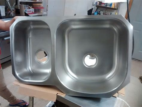 counter mount kitchen sinks glacier bay counter mount stainless steel 8682