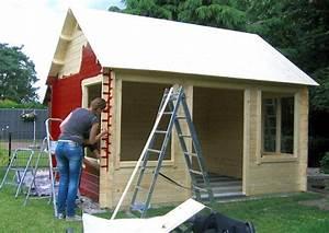 Furniertes Holz Streichen : gartenhaus streichen schritt f r schritt anleitung ~ Lizthompson.info Haus und Dekorationen