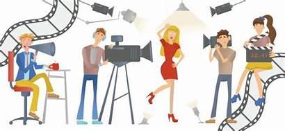 Director Film Clip Illustrations Actress Tv Vector