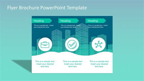 flyer brochure powerpoint template slidemodel