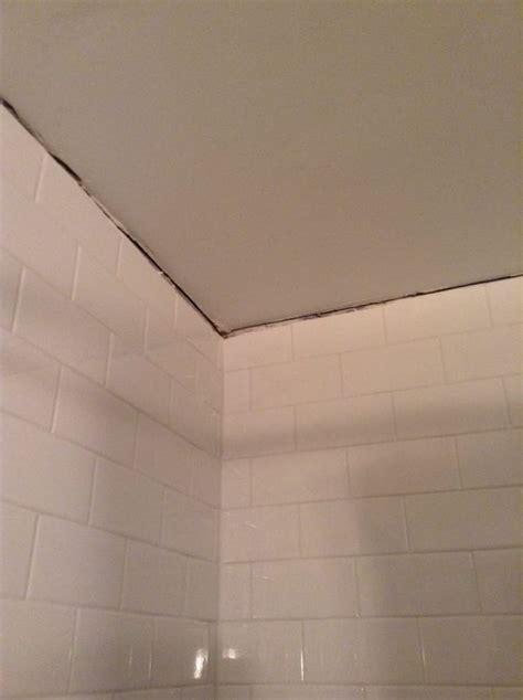 huge gap  tile  ceiling  bathroom yelp