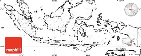 blank simple map  indonesia  labels