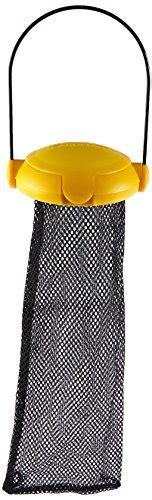 gardman ba04820a yellow flip top thistle feeder mesh bag