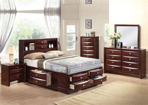 ireland  pc bedroom set queen full king size bed storage