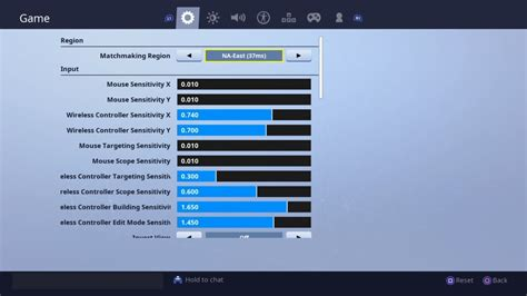 console controller settings sensitivity deadzone