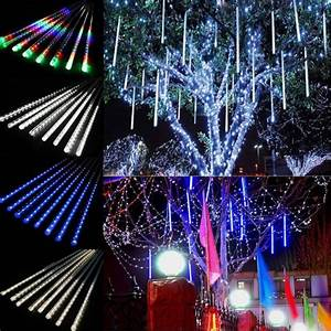 30 cm string lights meteor shower rain tubes christmas With outdoor string lights in rain