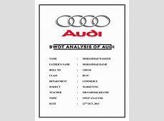 Audi swot analysis