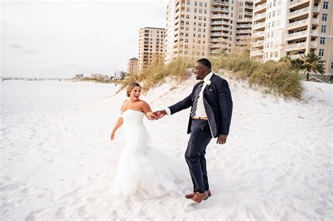 Tampa Bay Bride and Groom Beachfront Wedding Portraits