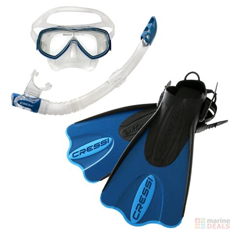 Cressi Dive Mask - buy cressi palau dive mask snorkel and fins set blue azure