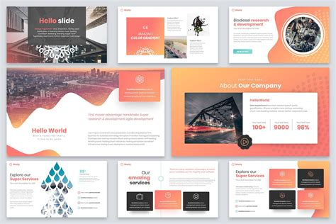 shelly powerpoint template  reshapely  atcreativemarket